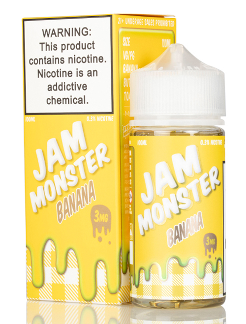 Same day Delivery | Jam MONSTER - Banana 100mL - Online vapestore