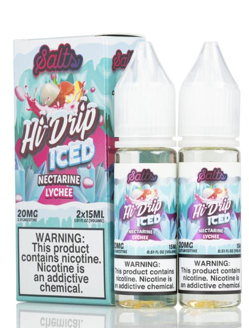 Hi-Drip Nectarine Lychee ICED Salts